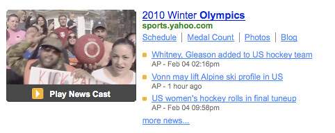 Watch Winter Olympics Coverage on Yahoo! Search