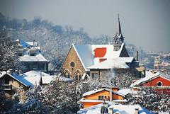 Plovdiv, Bulgaria ,  (.:: Maya ::.) Tags: city blue winter sun white snow eye view maya bulgaria plovdiv    mayaeyecom mayakarkalicheva  wwwmayaeyecom