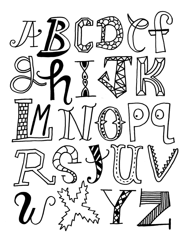 Cool Ways of Drawing Letters Cool Ways to Draw The Letters