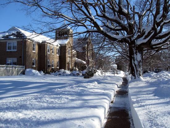 Church with Snow