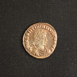 "<b>382 Obverse</b><br/> <a href=""http://en.wikipedia.org/wiki/Valentinian_II"" rel=""nofollow""><u><b>Valentinian II</b></u></a> <i>Reign: AD375 - 392</i> Son of Valentinian I, Valentinian II ruled the Western Roman Empire with his half-brother Gratian. Elevated to emperor at the age of 4, Valentinian II was easily manipulated by various people and factions throughout his reign. It is likely that his mother, co-emperors, and generals held more power than the emperor himself. He was succeeded by Theodosius I.  Donated by Dr. Orlando ""Pip"" Qualley<a href=""http://farm5.static.flickr.com/4015/4352107984_3f5ddd90a5_o.jpg"" title=""High res"">∝</a>"