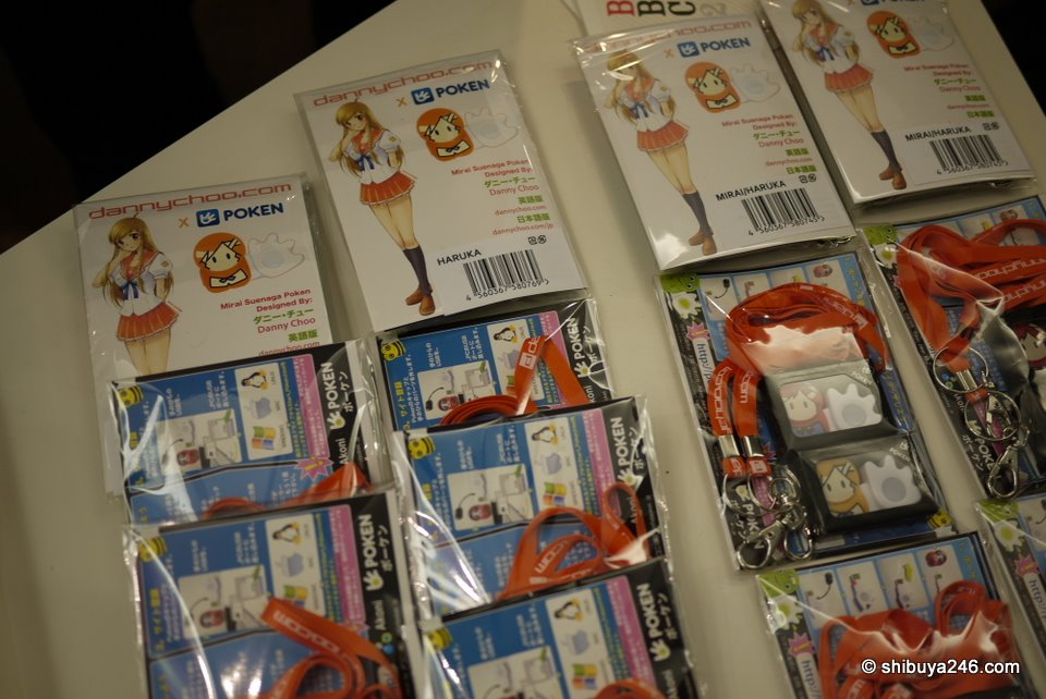 Newly released Mirai-chan Poken from the dannychoo.com brand were on offer. The orange straps are a nice touch to make this a real stand out product. They were being snapped up very quickly.
