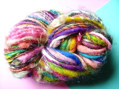big jimmy (1) (rosie.ok) Tags: wool rainbow knitting colorful soft handmade crochet craft merino spinning artisan woollen woolly handspun spun