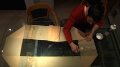 Fabrication of Energy_Animal, Selsey, UK (cesarharada.com) Tags: uk orange paris sussex energy university sailing open craft wave tape anaconda southampton adhesive selsey bulging converter flexible craftmanship fabrication craftman opensailing