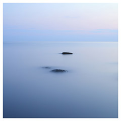 Blue Night (c e d e r) Tags: ocean longexposure sunset sea sky nature stone night square landscape marine rocks europe exposure purple sweden stones smooth cyan calm velvet explore bluehour milky halmstad etheral bluenight nightexposure ceder aftersunset explored flickriver cederfoto
