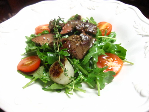 Salade de confits gésiers (Salad with Confit Gizzards)