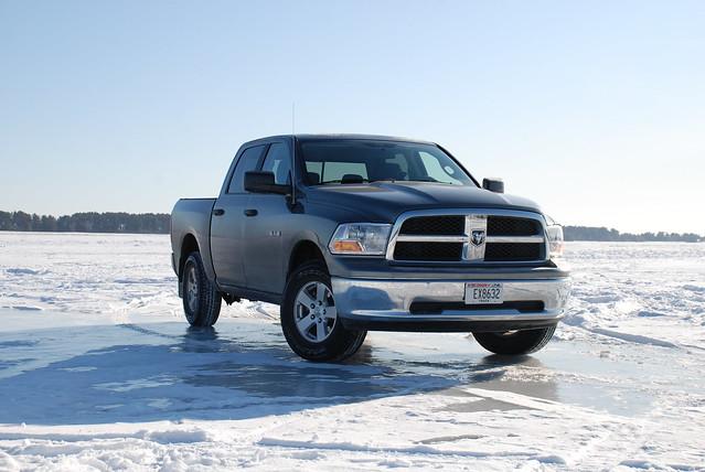 snow ice truck river nikon dodge ram dodgeram stlouisriver d80 nikond80