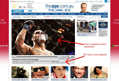 TheAge.com.au new home page