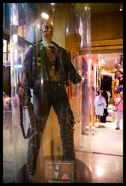 The Terminator at Planet Hollywood, Times Square by radiatingeye