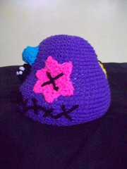 101_1111 (CrazyHatSociety) Tags: halloween rainbow purple cosplay handmade humor adorable hats creepy etsy geekery deadbaby neoncolors ravelry crazyhatsociety threadknits tauntonstitchandbitch