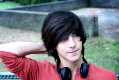 Distracted (Kon_Art) Tags: boy hot cute guy headphones russian blackhair hotguy cuteguy baptiste cutesmile