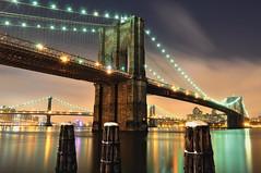 After the Snow II, Brooklyn Bridge at Night, NYC (andrew c mace) Tags: nyc longexposure winter snow newyork brooklyn night manhattan southstreetseaport brooklynbridge manhattanbridge eastriver newyorkatnight nikoncapturenx nikond90