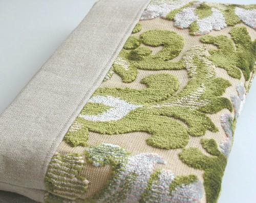 Vintage Cut Velvet Fabric Clutch Back A Photo On Flickriver