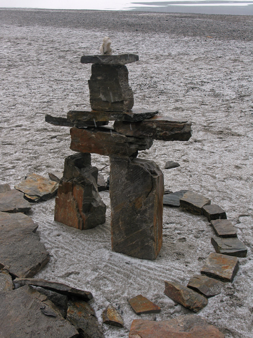 stone figure near Mendenhall Glacier, Juneau, Alaska