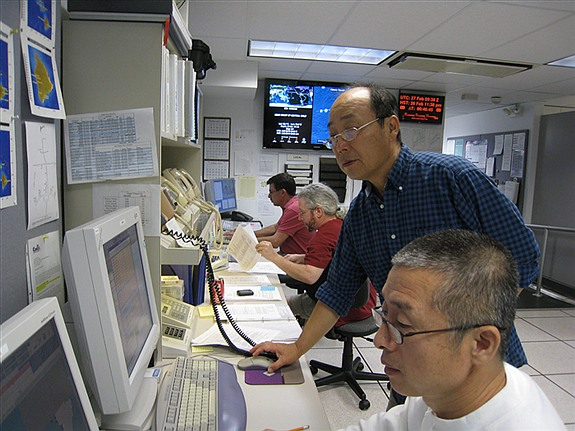 PTWC operation room (Photo courtesy of NOAA)