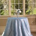 Pintuck blue tablecloth