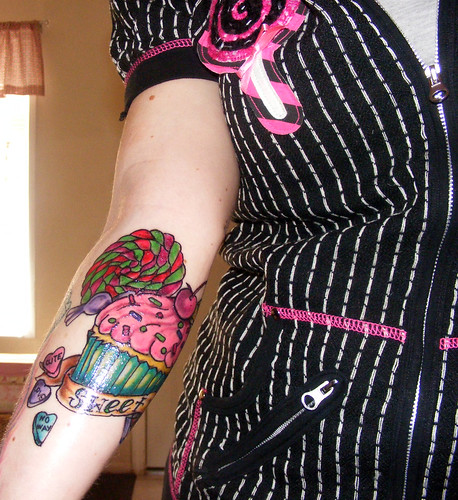 Cupcake tattoo healing