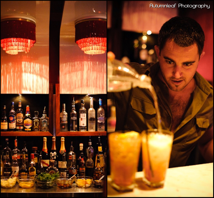 Gloria and Damian - Red Room at Luxe Bar (by Autumnleaf Photography)