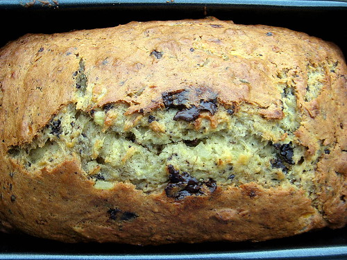 BANANA BREAD WITH CHOCOLATE AND CANDIED GINGER