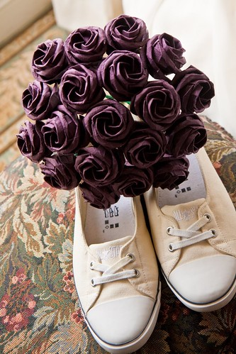 Bouquet and shoes by mrsshotglass314.