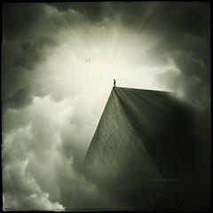 Saviors Never Cry (Midnight - Digital) Tags: light sky clouds dark square loneliness digitalart atmosphere eerie enigma hero scifi mysterious cinematic drama greenish raisondêtre