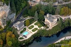 Château de la Caze : vue aérienne (Gorges du Tarn et Causses)