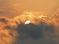 Dragonball (plimvw) Tags: light sun water clouds ball dawn solar glow air wap cumulus bola radiate awan dragonball vapour element naga cahaya matahari kumulus