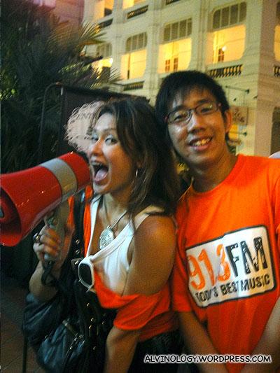 Radio 91.3 DJs, Cheryl Miles and Boy Thunder