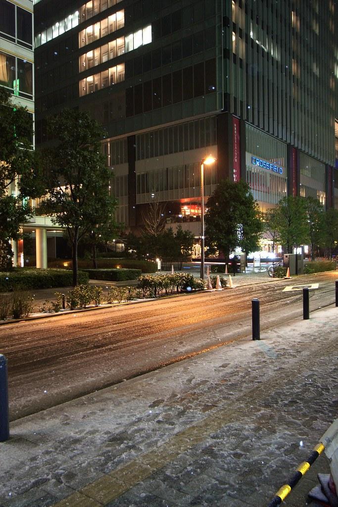 Snow in Akihabara
