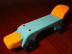 Perry the Platypus - Pinewood Derby Car (Shook Photos) Tags: car racecar boyscouts scouts vehicle perry derby platypus phineas scouting pinewood cubscouts pinewoodderby pinewoodderbycars ferb pinewoodderbycar agentp phineasferb phineasandferb perrytheplatypus