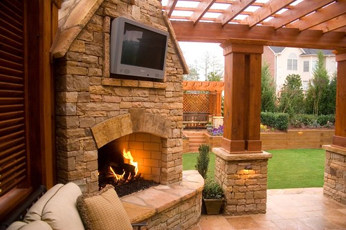 Duluth Fireplace Outdoor Tv And Patio A Photo On Flickriver