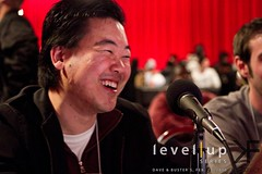 jchensor commentating at the Level|Up Series D&B Event