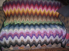 lightening ripple (angelala242) Tags: colour ripple crochet afghan crochetblanket