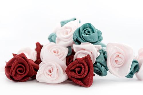 Ribbon roses