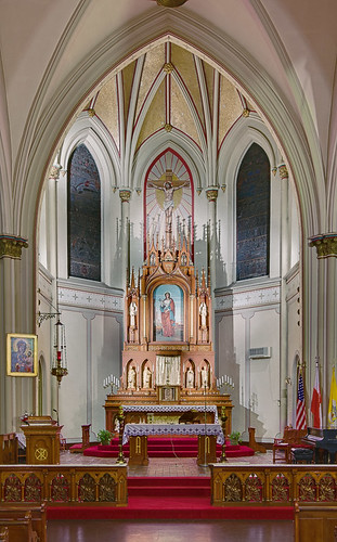 Saint Agatha Roman Catholic Church, in Saint Louis, Missouri, USA - sanctuary