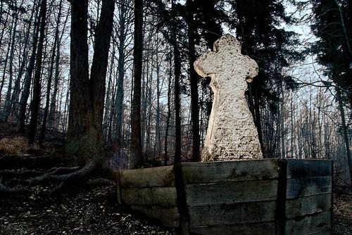 Steinerne Jungfrau im Abendlicht - Helbetal bei Holzthaleben