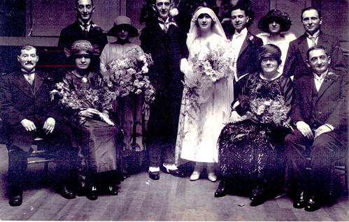 Huddleston Family Wedding, Trades House, 1923.