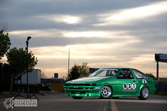 AE86 Hachiroku (Danh Phan) Tags: green houston drift ae86 strobist willparsons