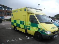 RX54GKY Mercedes-Benz Sprinter Ambulance at SECAmb Fleet HQ