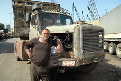 TRUCKING IN LEBANON (Claude  BARUTEL) Tags: road portrait lebanon truck transport eat middle beirut trucking drivers syrians