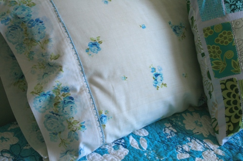 vintage sheet pillowcases