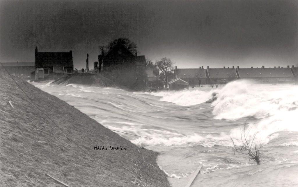submersion des Pays Bas après la rupture des digues le 1er février 1953
