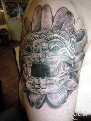 QUEZALCOATL TEOTIHUACAN (roca tattoo studio) Tags: art tattoo arte maya aztec teotihuacan culture mayan convention cultura tatuaje prehispanic azteca convencion precolombino prehispanico glifo