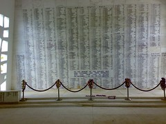 Altar with a plate of victims' names