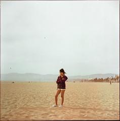 (AAGCTT) Tags: california venice 6x6 film beach mediumformat losangeles candid stranger venicebeach latina kodakportra400nc
