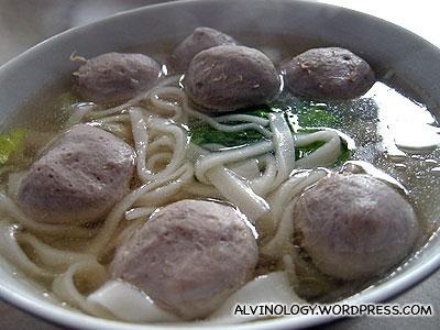 The best beef ball kway tiao in Shantou