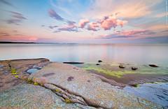 Cloud escape (Rob Orthen) Tags: sunset sea sky rock suomi finland landscape nikon europe scenic rob tokina 09 nd scandinavia meri maisema vesi archipelago kes pinta d300 gnd 1116 nohdr orthen leefilters roborthenphotography tokina1116 tokina1116mm28 seafinland
