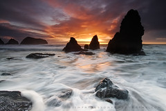 In The Moment #3 - Rodeo Beach, California (Jim Patterson Photography) Tags: ocean california sunset red sea sky usa sun seascape motion color beach nature water clouds landscape photography coast marine rocks colorful waves natural pacific tripod shoreline scenic rocky wideangle icon coastal shore lee vista sunburst coastline sausalito iconic gitzo marinheadlands seastack reallyrightstuff rodeobeach remoterelease nikkor1224mm goldengaterecreationarea graduatedneutraldensityfilter cotcpersonalfavorite singhray nikond300 markinsm20ballhead jimpattersonphotography jimpattersonphotographycom passiondclic seatosummitworkshops seatosummitworkshopscom