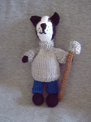"7"" Border Collie (Impression-Knits) Tags: food fish dogs knitting hats icecream knitted dognovelties"