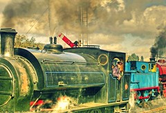 Calling All Engines (~ paddypix ~) Tags: england station yorkshire trains steam engines locomotives embsay sidings mywinners